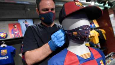 Photo of Barcelona launch own range of protective masks as official club shops begin to reopen