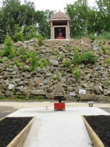 Krishna shrine at top of hill