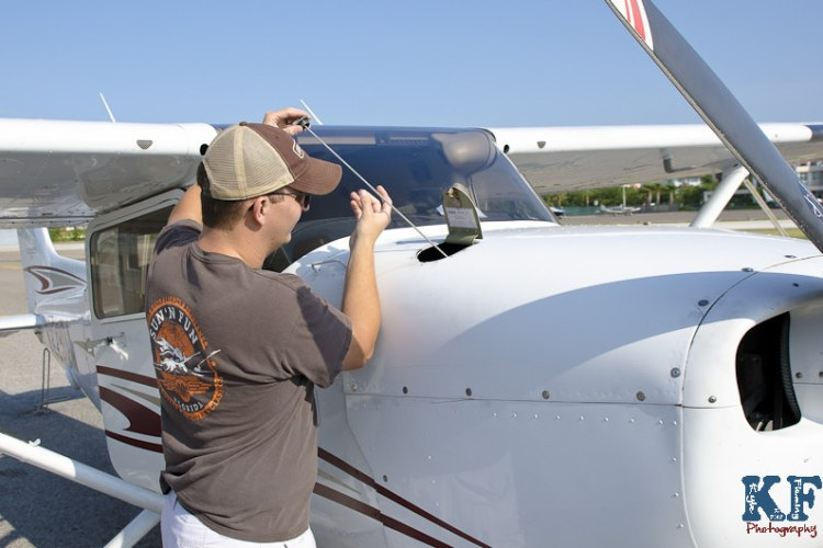 Pre-Flight Check on Cessna