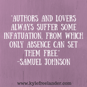 Samuel Johnson writing and love quote