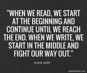 reading and writing quote Vickie Karp