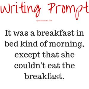 breakfast in bed prompt
