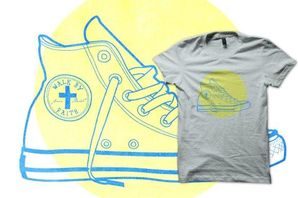 Walk By Faith logo and shirt design