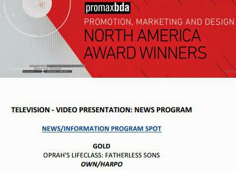 OWN / Harpo Win PromaxBDA Award for Oprah's Lifeclass: Fatherless Sons