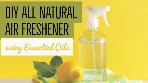 DIY All Natural Air Freshener recipe using essential oils.
