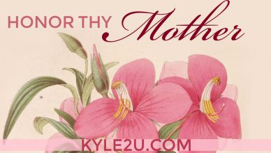 Honor Thy Mother - Quote Card celebrating Mother's Day