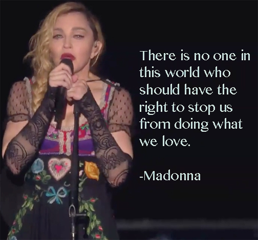Madonna 'Do What You Love' Quote Card