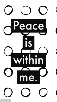 Peace is within me - positive affirmations by Kyle McMahon
