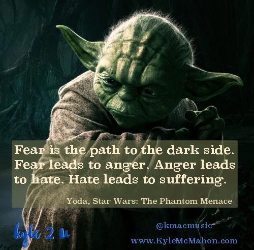 Yoda Fear Quote Card Kyle Mcmahon