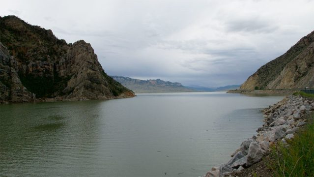 The reservoir of the Buffalo Bill Dam.
