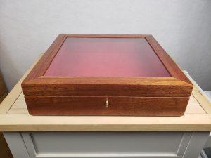 Mahogany Shadow Box, full view, closed