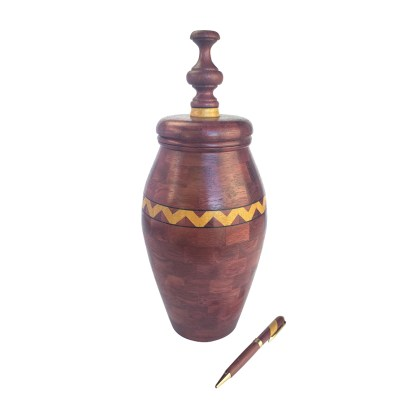 Segmented Vase Purpleheart with Yellowheart feature ring