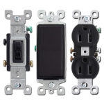 Black Wall Switch Covers with Matching Black Electrical Devices