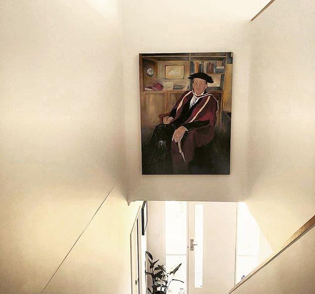 Portrait Professor Neville Marsh | Oil on Linen Canvas | Kylie Fogarty