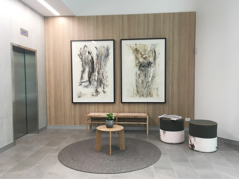 Gum Tree Art by Kylie Fogarty at Quest Canberra Citywalk Apartments