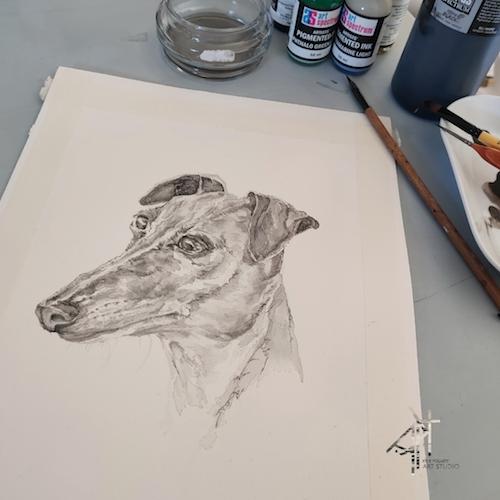 KylieFogarty_WorkinProgress_PetPortrait_Drawing_Kirby_2020