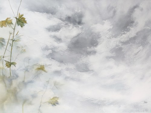 Meet Me in The Clouds_MixedMediaonStretchedLinen_KylieFogarty_2020