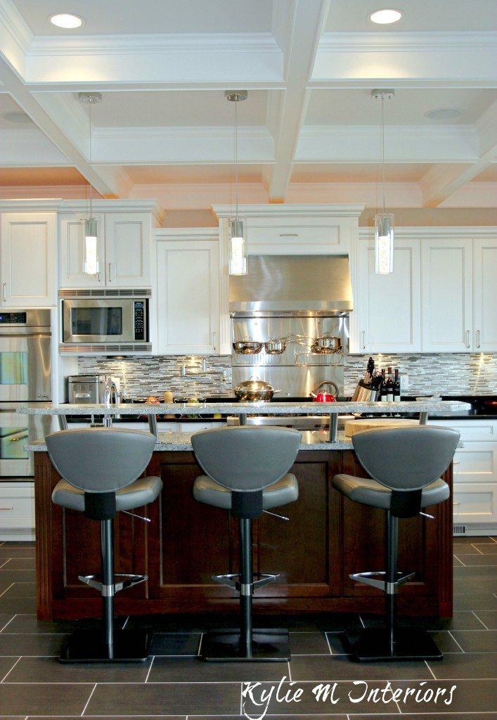Contemporary Yet Transitional Style Kitchen With White