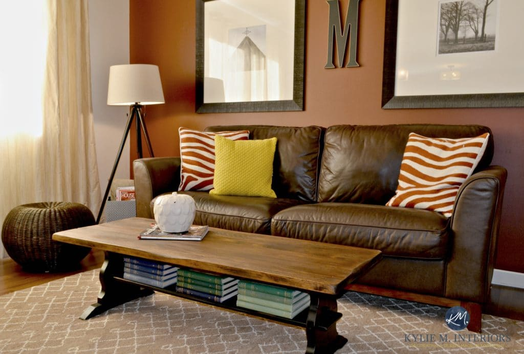 Painted Black And Stained Trestle Style Coffee Table With