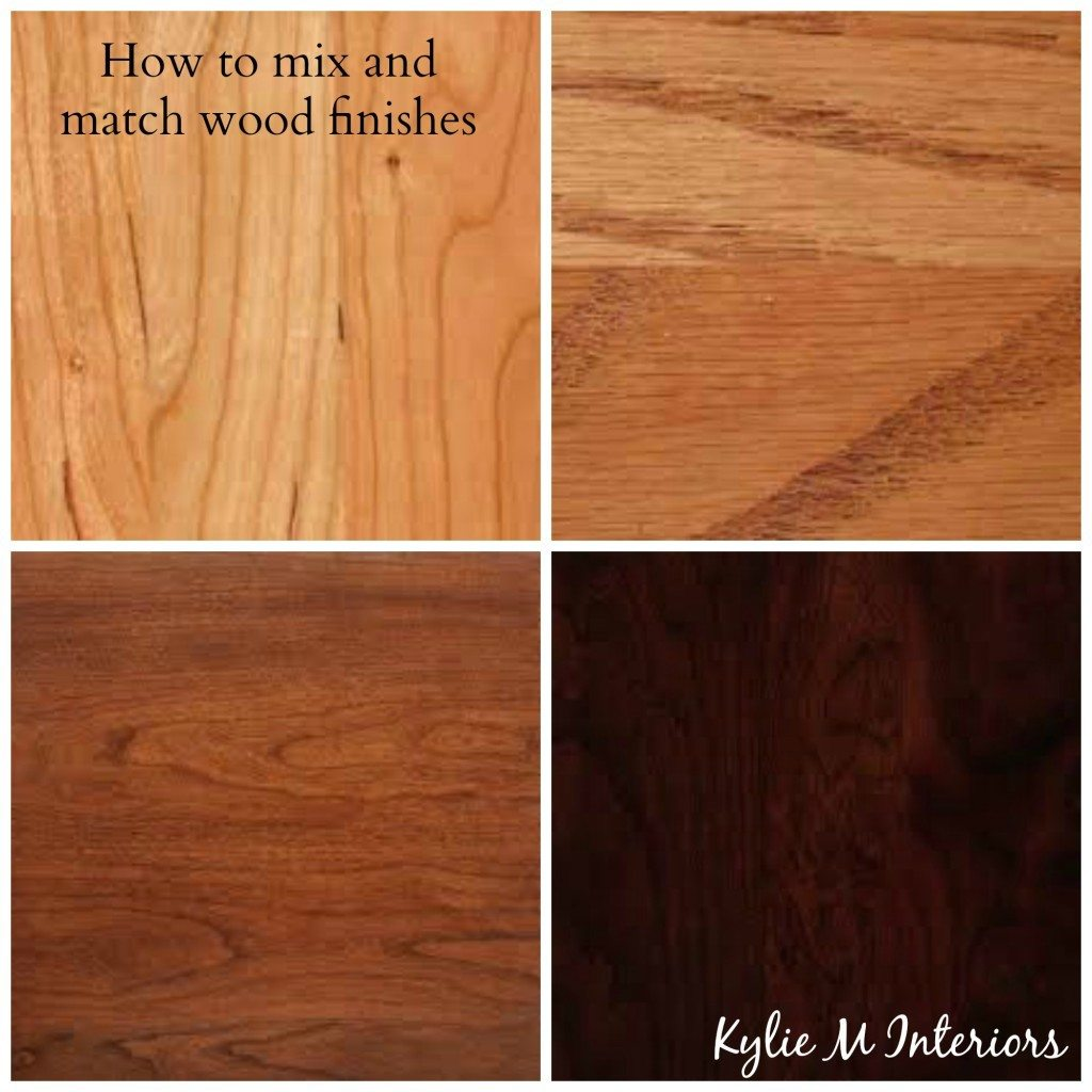 How To Mix And Match Wood Stains Like Cherry Oak Maple Pine On Cabinets Flooring And
