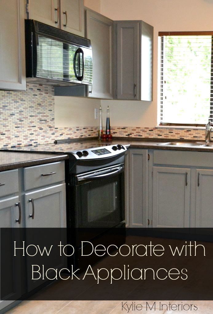Ideas For How To Decorate A Kitchen With Black Appliances