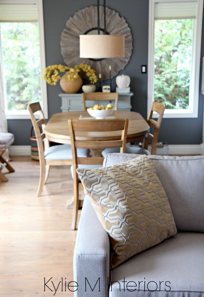 View From Open Layout Living Room To Dining Room With