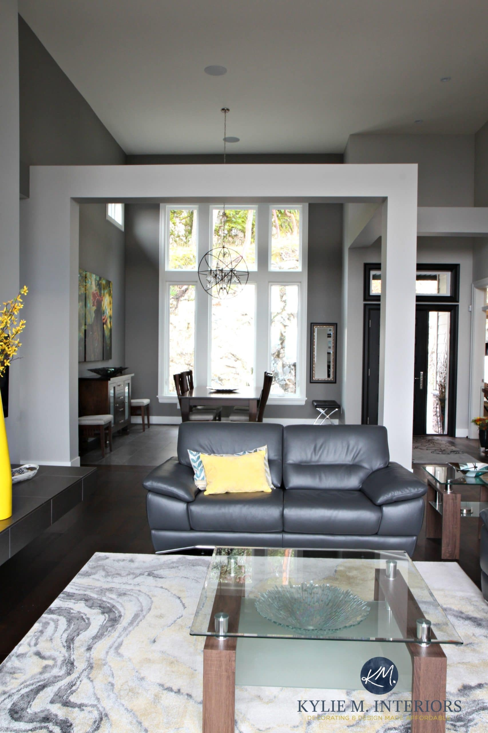 Open Layout Contemporary Design Living Room And Dining Room