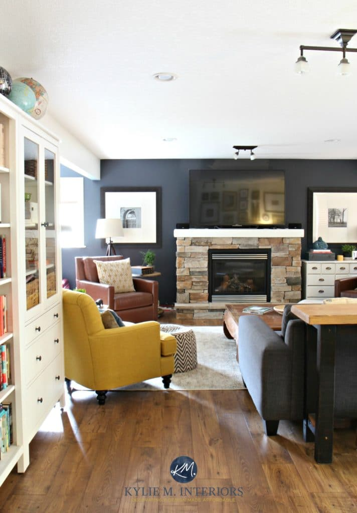 Family Room With Stone Fireplace Sherwin Williams