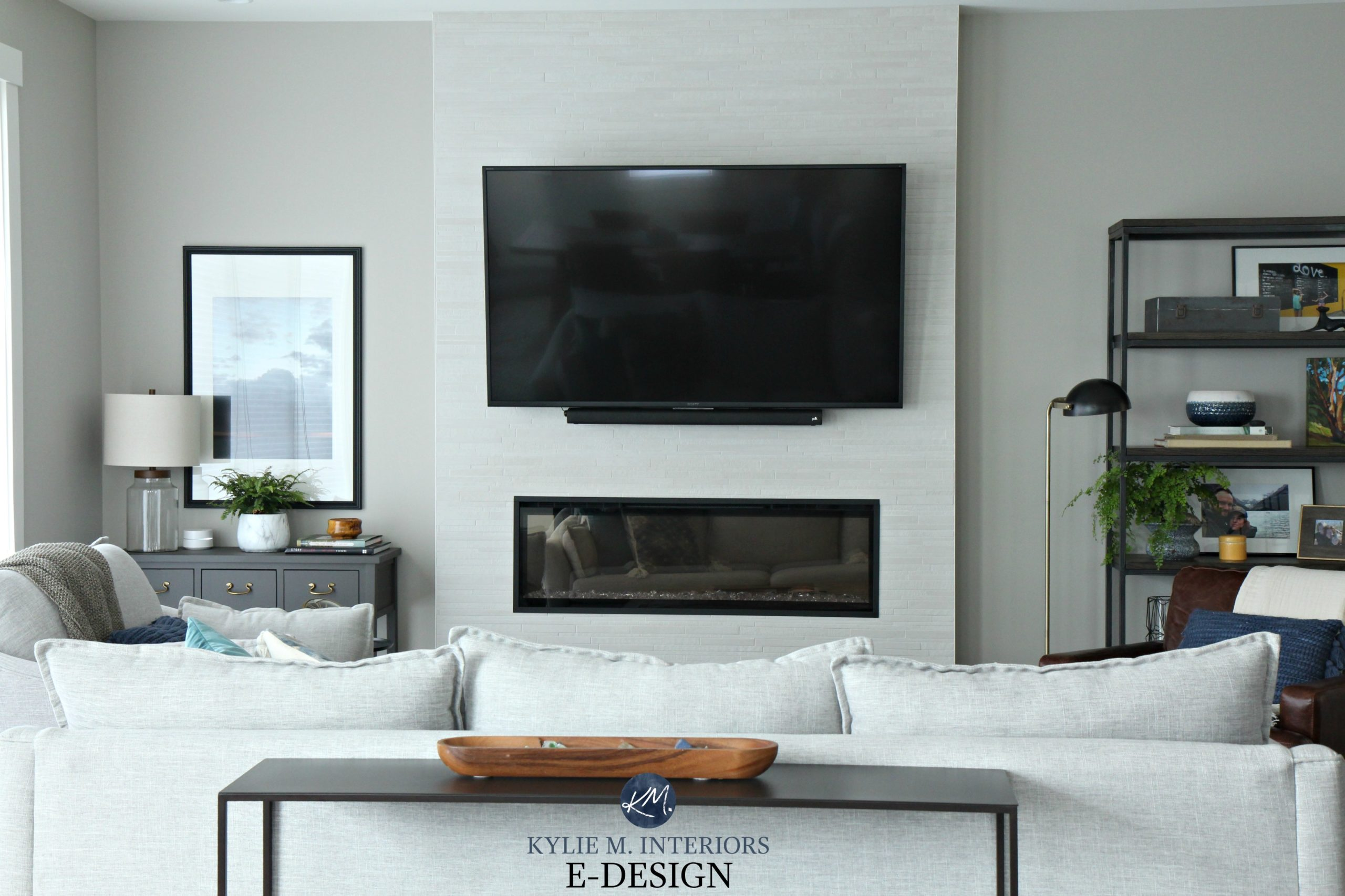 Sherwin Williams Collonade Gray In Living Room Kylie M
