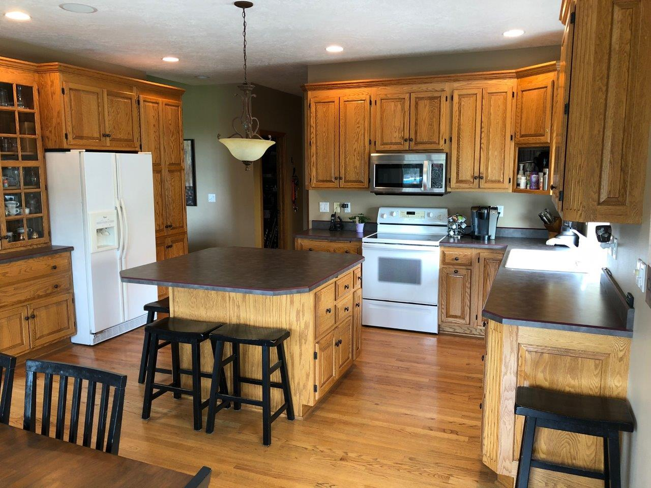 Oak Kitchen Cabinets Stained Not Painted Before New