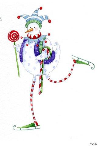 Lollystick Snowpeople - d5632