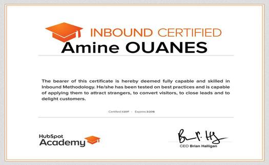 inbound certified amine ouanes