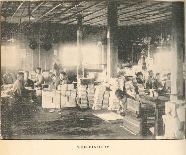 明治末頃の製本所(1906-1907)