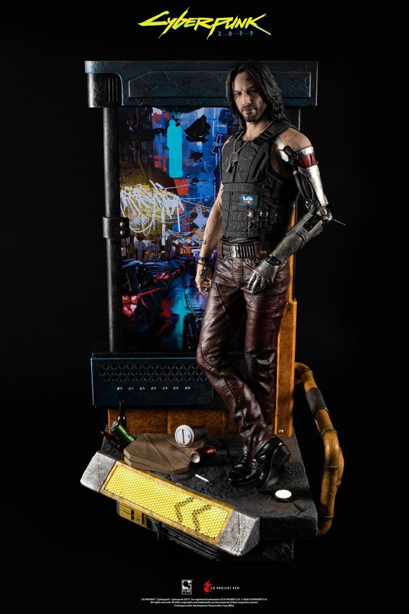 statuette johnny silverhand du jeu video cyberpunk 2077 purearts