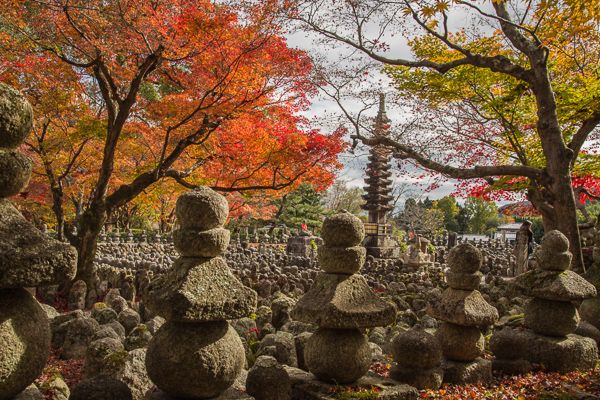 Some of the more than 8.000 Buddhist stone figures at the Adashino Nenbutsu-ji Temple (化野念仏寺) in Arashiyama, Kyoto.