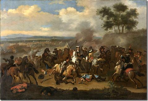 Battle of the Boyne between James II and William of Orange