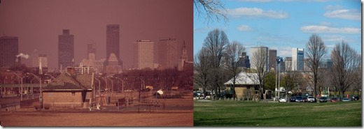 Boston before and after Clean Air Act changes