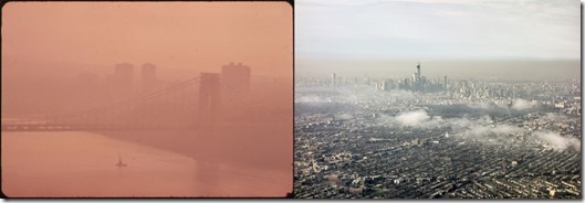 New York before and after Clean Air Act