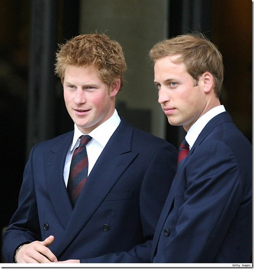 William and Harry in their 20s