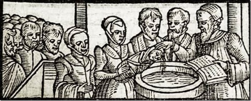 1581 - Infant Baptism woodcut