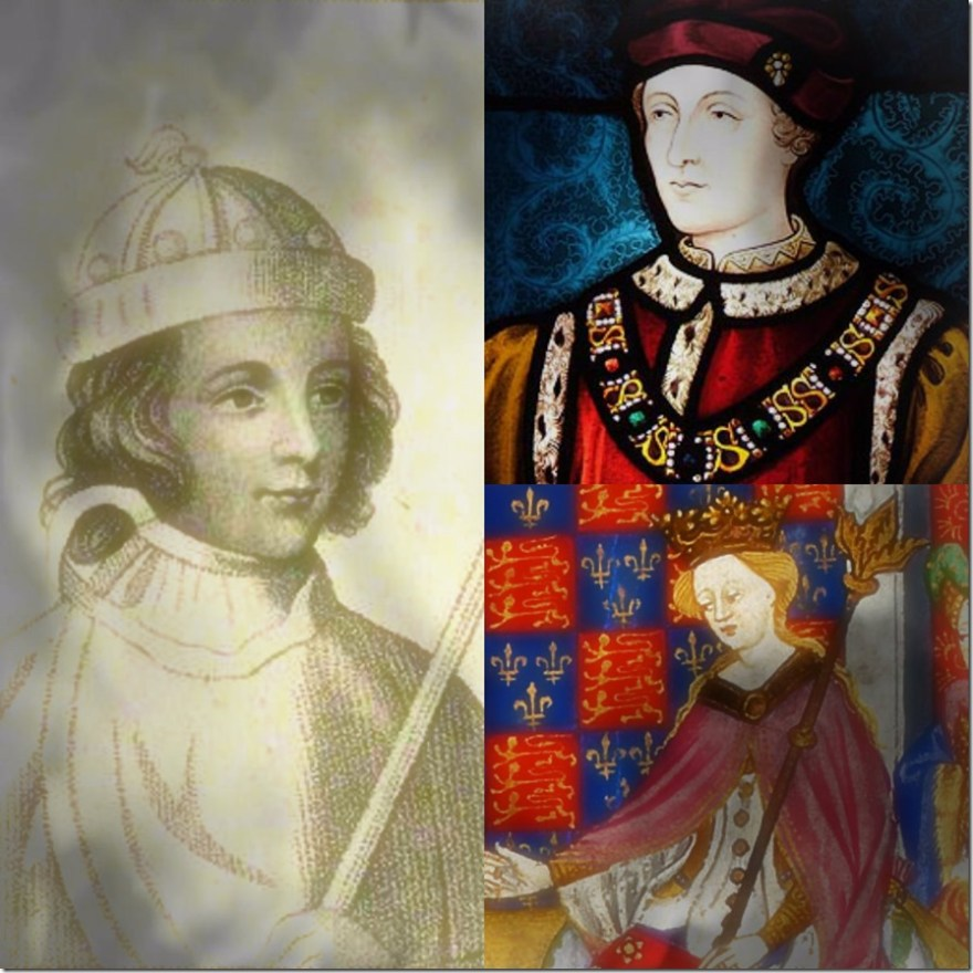 Edward of Winchester with Henry VI and Margaret of Anjou