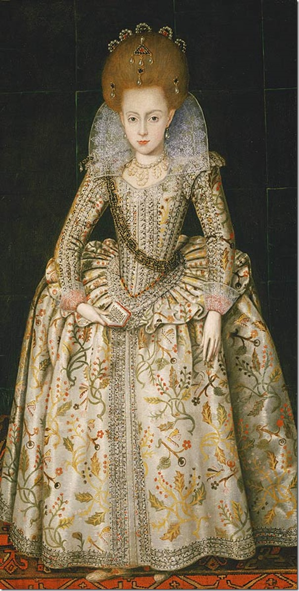 ELIZABETH STUART THE WINTER QUEEN OF BOHEMIA PORTRAIT PAINTING ART CANVAS PRINT