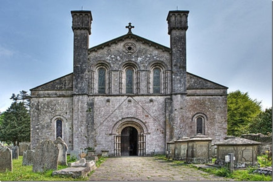 Margam abbey nave parish church