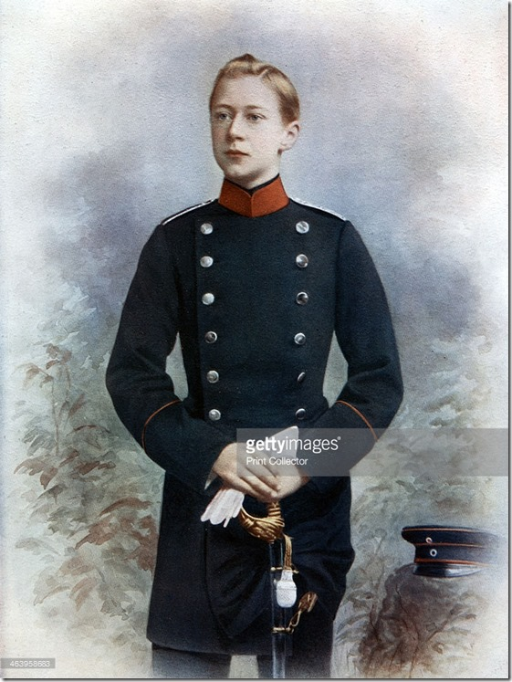 Prince Wilhelm of Prussia, future King of Prussia and Emperor of Germany circa 1815