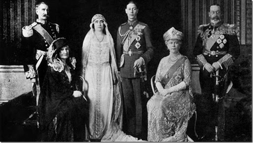 Duke of York weds Elizabeth Bowes-Lyon 26 April 1923
