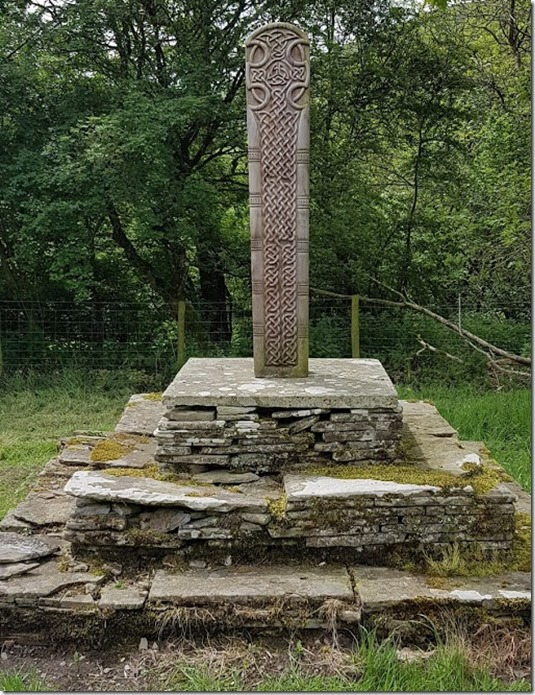 St Mary Church Craswall celtic cross