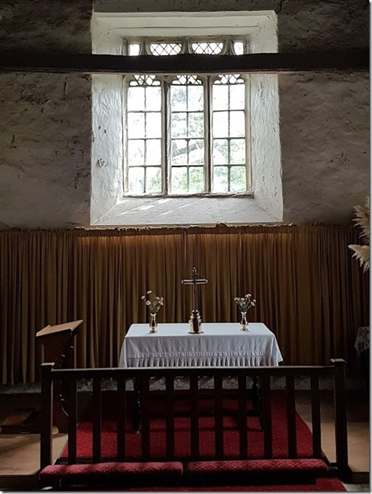St Mary Church Craswall interior altar