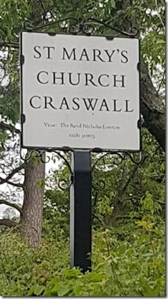 St Mary Church Craswall sign