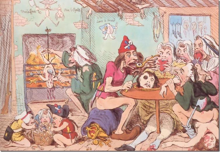 burke-cartoon sans culottes french revolution