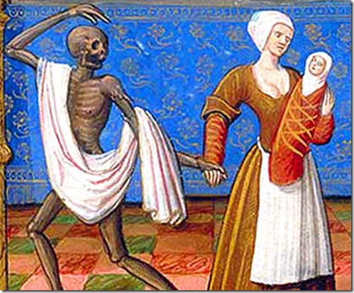 death taking woman and child